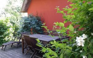 Landhaus-Sitzplatz